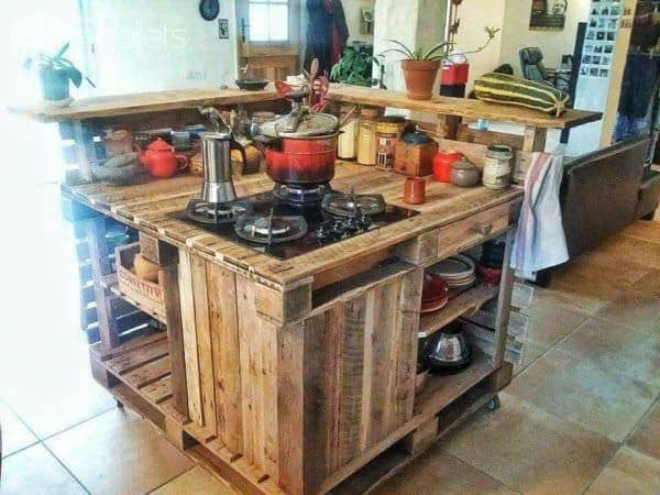 Amazing Pallet Mobile Kitchen Island Pallet Desks U Pallet Tables