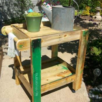Pallet Patio Furniture: Tea Cart