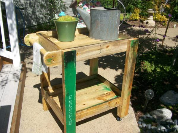 Pallet Patio Furniture: Tea Cart Lounges & Garden Sets