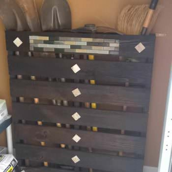Pallet Used as a Tool Rack