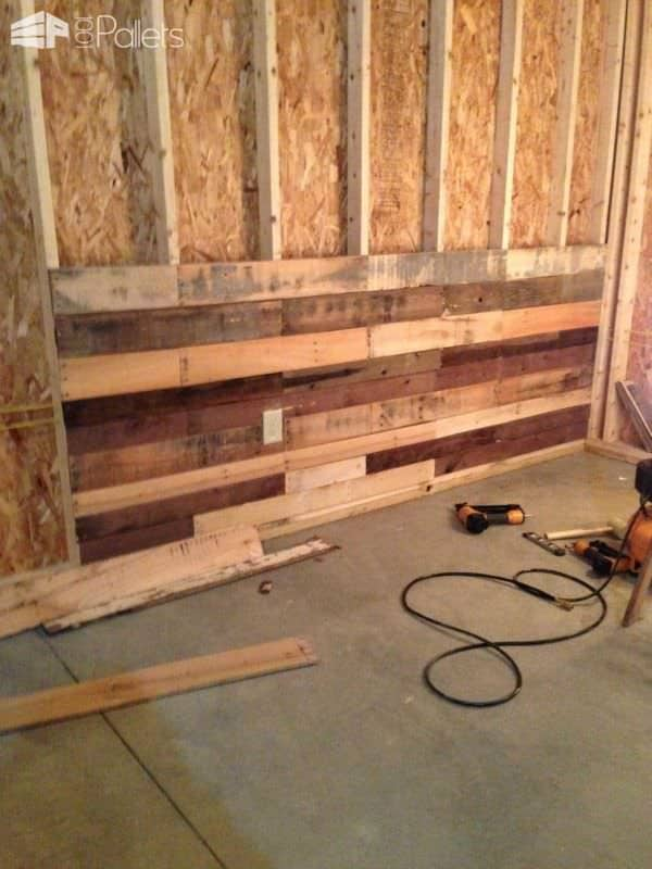 Pallet Wall for Dartboard Pallet Walls & Pallet Doors