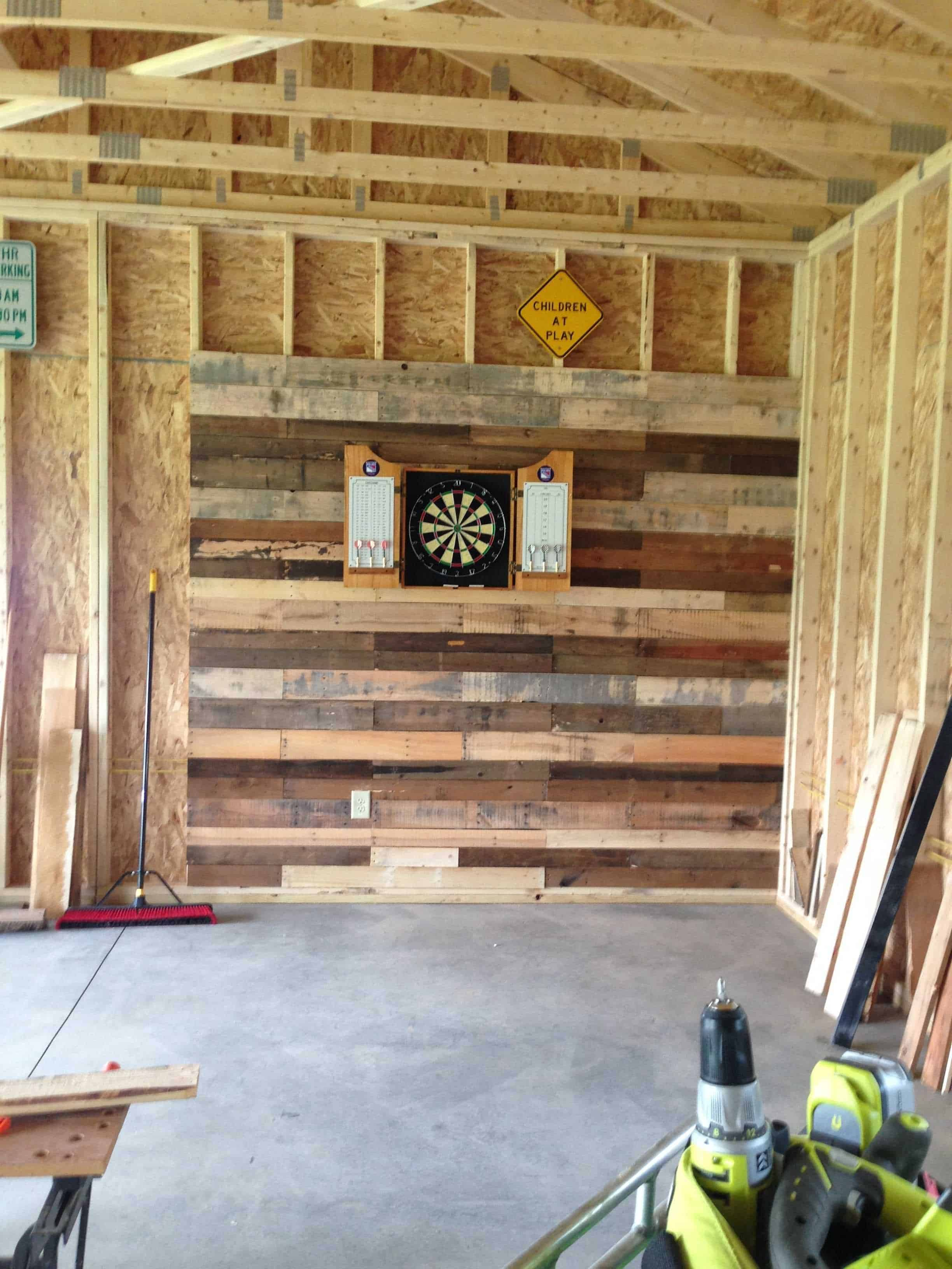 Pallet Wall For Dartboard 1001 Pallets