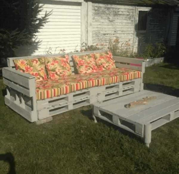 Pallet Wooden Garden Couch Lounges & Garden Sets Pallet Sofas