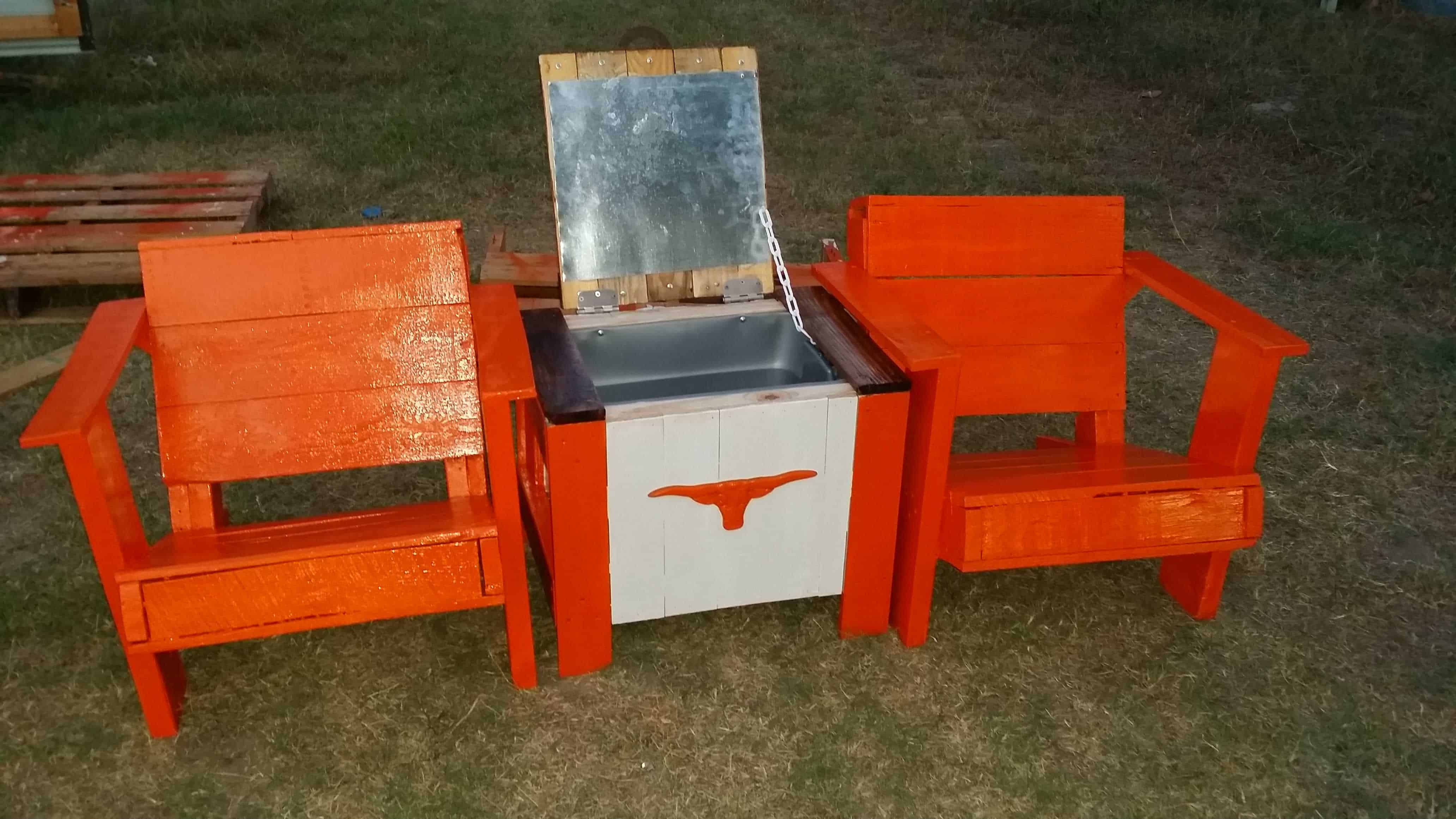 Patio Set With Cooler • 1001 Pallets