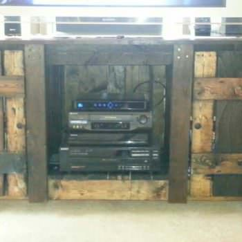 Rustic Entertainment Center out of Recycled Pallets