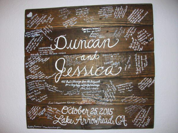Wedding Guest Board From Pallet Wood Pallet Wall Decor & Pallet Painting