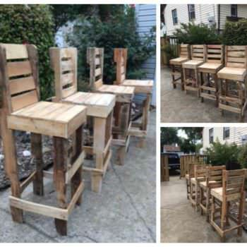 Pallet High Bar Stools