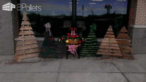 Christmas Trees For Our Flower Shop Pallet Home Accessories