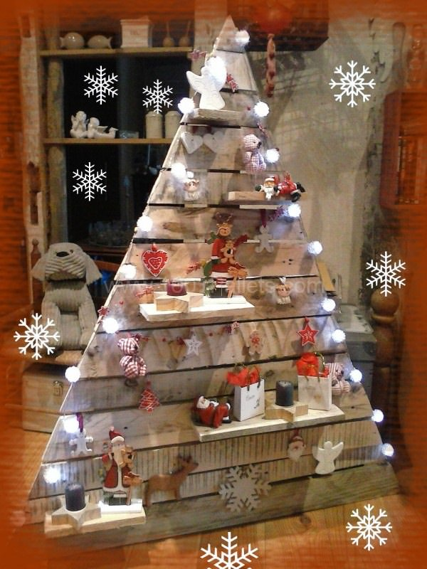 40 ideas of christmas tree decorations made out of - Decoration avec des palettes ...