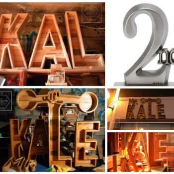 1001pallets Contest 2nd Place: Restaurant/Bar Letters