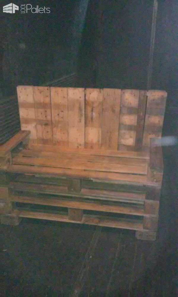 Bill S Bench Love Seat From Three Pallets 1001 Pallets