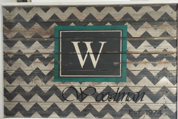 Chevron Family Sign Pallet Pallet Wall Decor & Pallet Painting