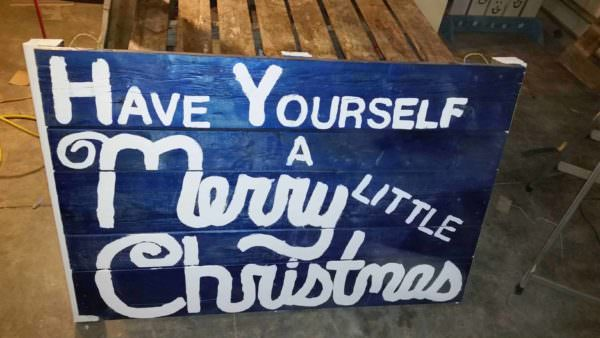 Christmas Sign For My Front Yard Pallet Wall Decor & Pallet Painting