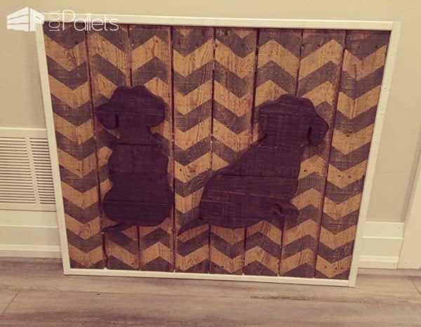 Daschunds Pallet Sign Pallet Wall Decor & Pallet Painting