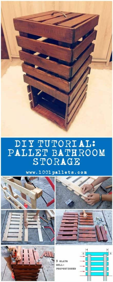 Diy Tutorial: Pallet Bathroom Storage