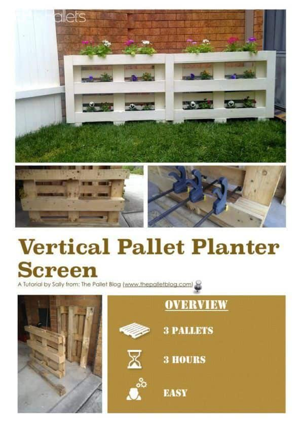 Diy Tutorial: Vertical Pallet Planter Screen Step-by-step Printable Pallet PDF Tutorials