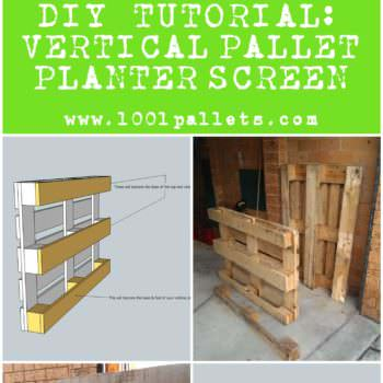 Diy Tutorial: Vertical Pallet Planter Screen