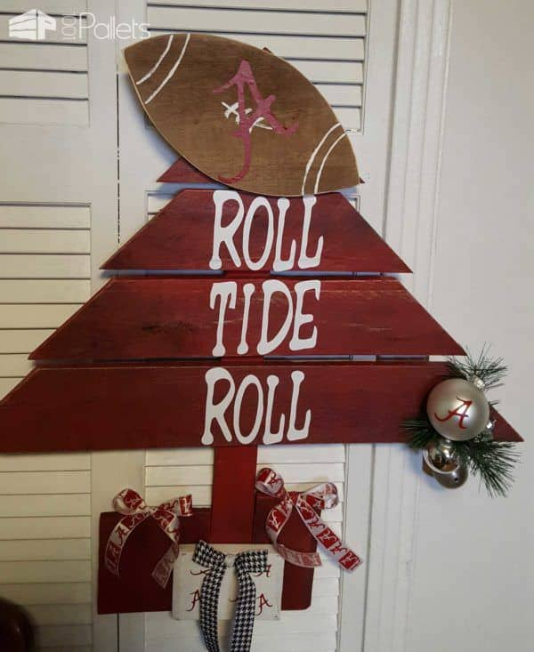 Door Christmas Decorations Sports Team Pallet Home Accessories
