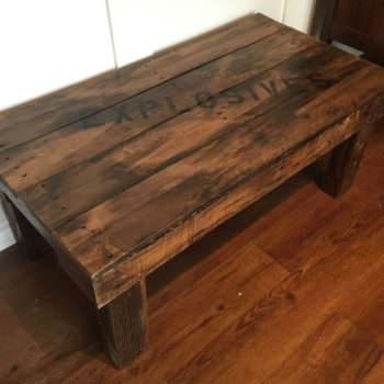 Explosives Pallet Coffee Table