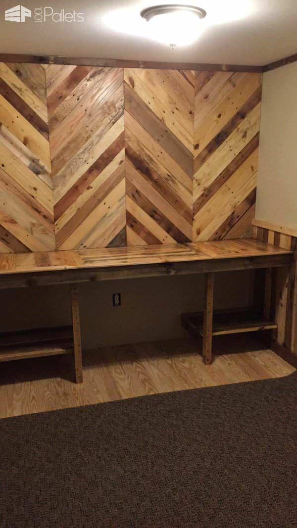 How I Built My Pallet Office Desk Walls O 1001 Pallets