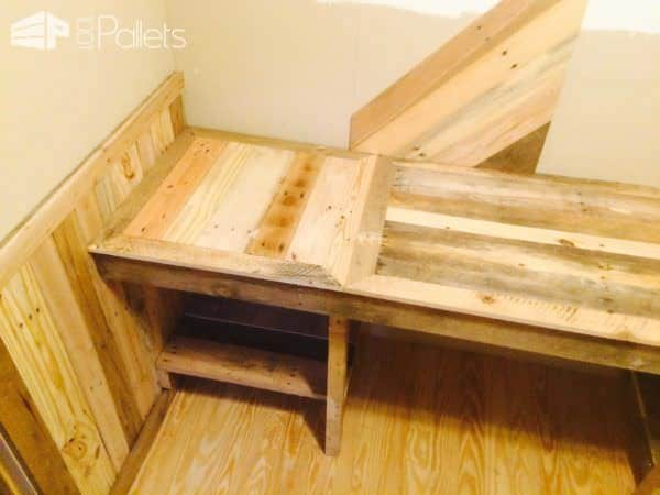 How I Built My Pallet Office (Desk & Walls) Pallet Desks & Pallet Tables