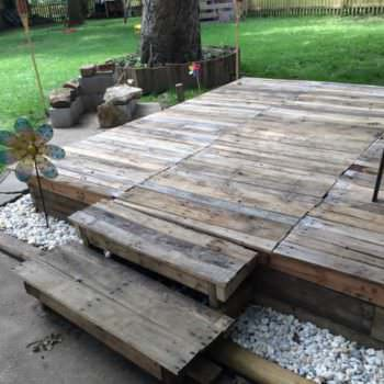 How I Made a Pallet Deck