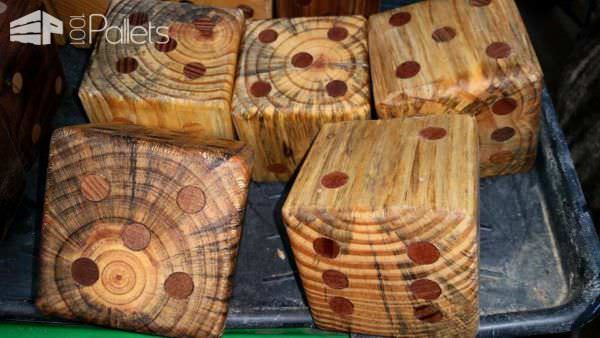 """How to Make a Pallet Yard """"yahtzee"""" Fun Pallet Crafts for Kids"""