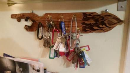 Key Holder From Pallet Wood