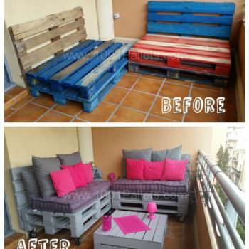 Make a Balcony Pallet Lounge under 100$