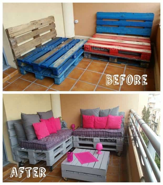 Fun Dining Room Wall Décor Ideas: Make A Balcony Pallet Lounge Under 100$ • 1001 Pallets