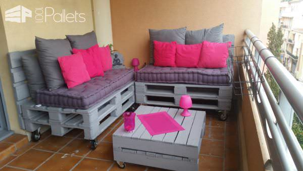 Make a Balcony Pallet Lounge under 100$ Lounges & Garden Sets