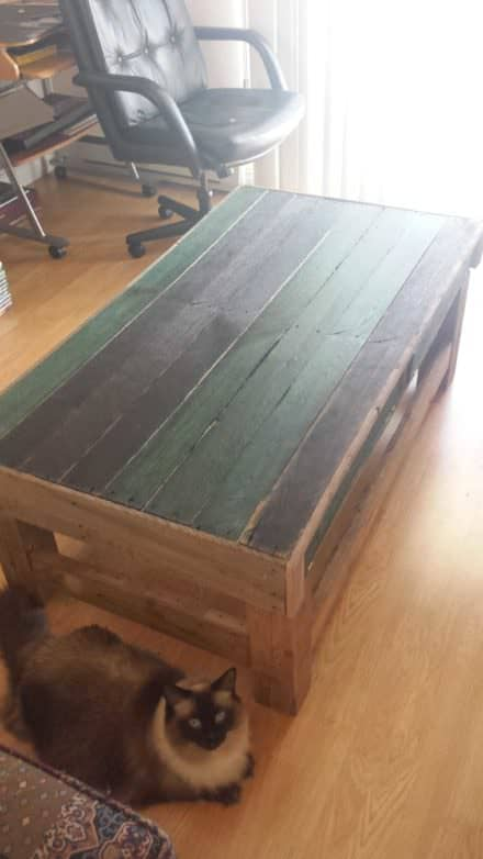 My First Pallet Project Is a Coffee Table