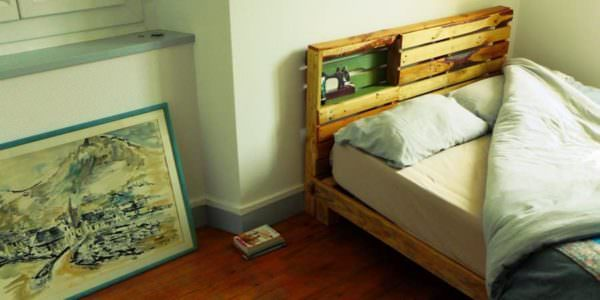 New Pallet Bed Frame & Headboard for Our New Home DIY Pallet Beds, Pallet Bed Frames & Pallet Headboards