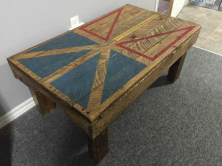 Newfoundland Flag Coffee Table From Pallet Wood