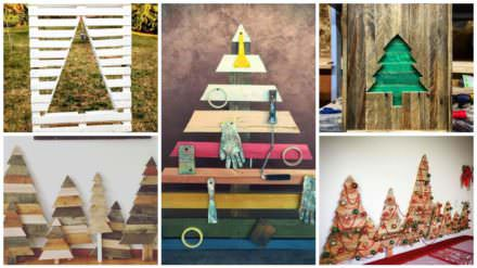 Our 15 Favorite Pallet Christmas Trees & Decorations for 2016