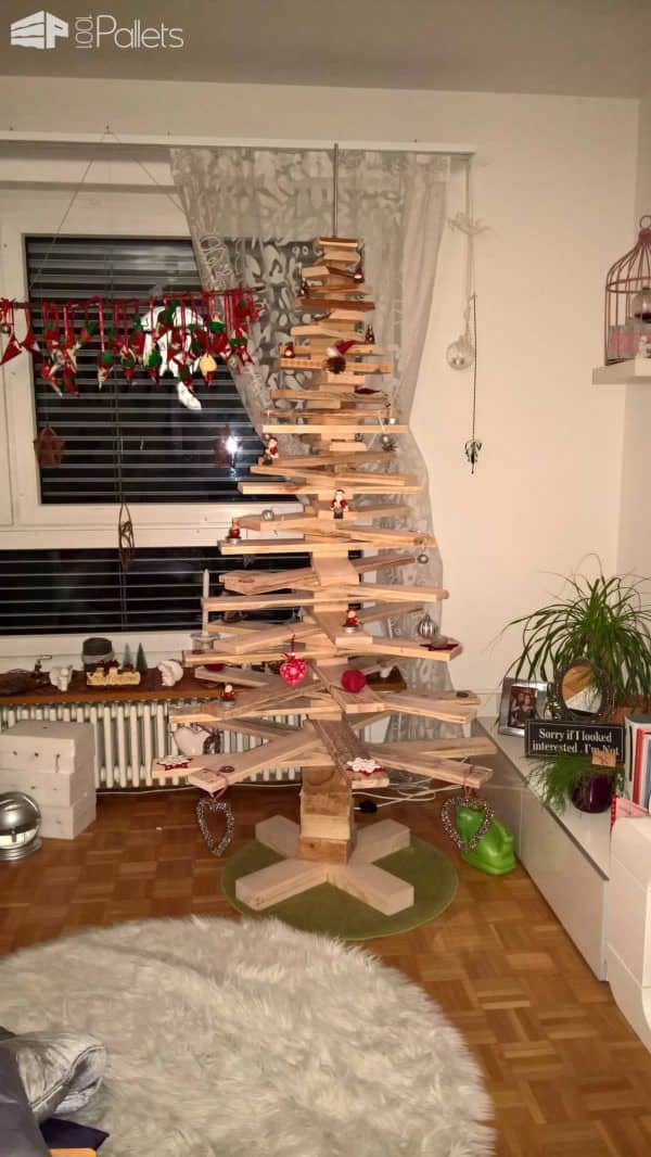 Pallet Christmas Tree Pallet Home Accessories