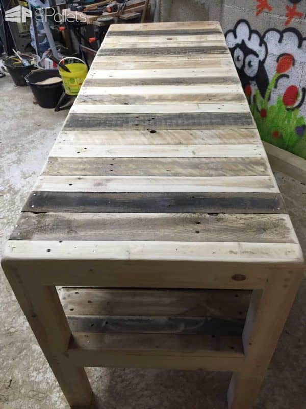 Pallet Desk With Integrated Shelf Pallet Desks & Pallet Tables