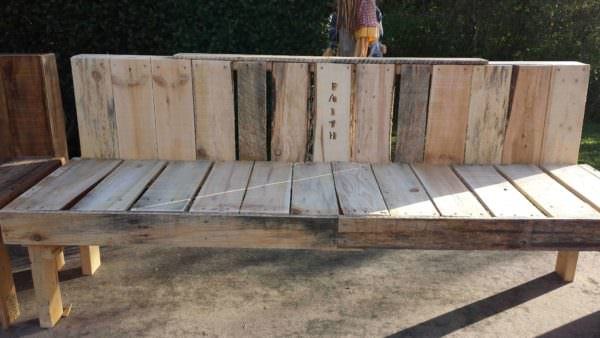 Pallet Faith Bench for Mission Pallet Benches, Pallet Chairs & Pallet Stools