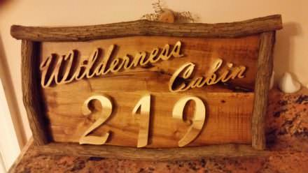 Pallet House Number Sign