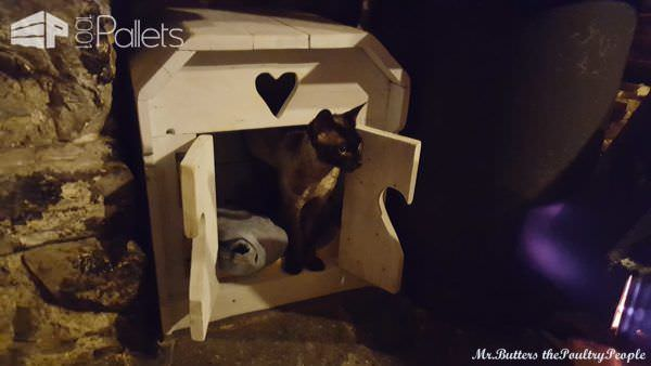 Pallet Indoor Cat House Animal Pallet Houses & Pallet Supplies