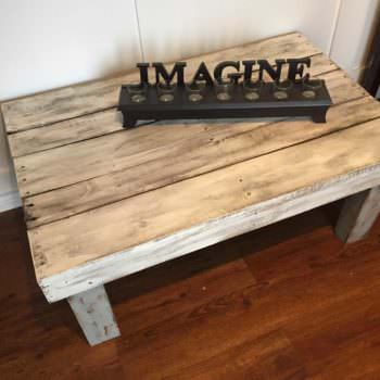 Rustic Painted Pallet Coffee Table