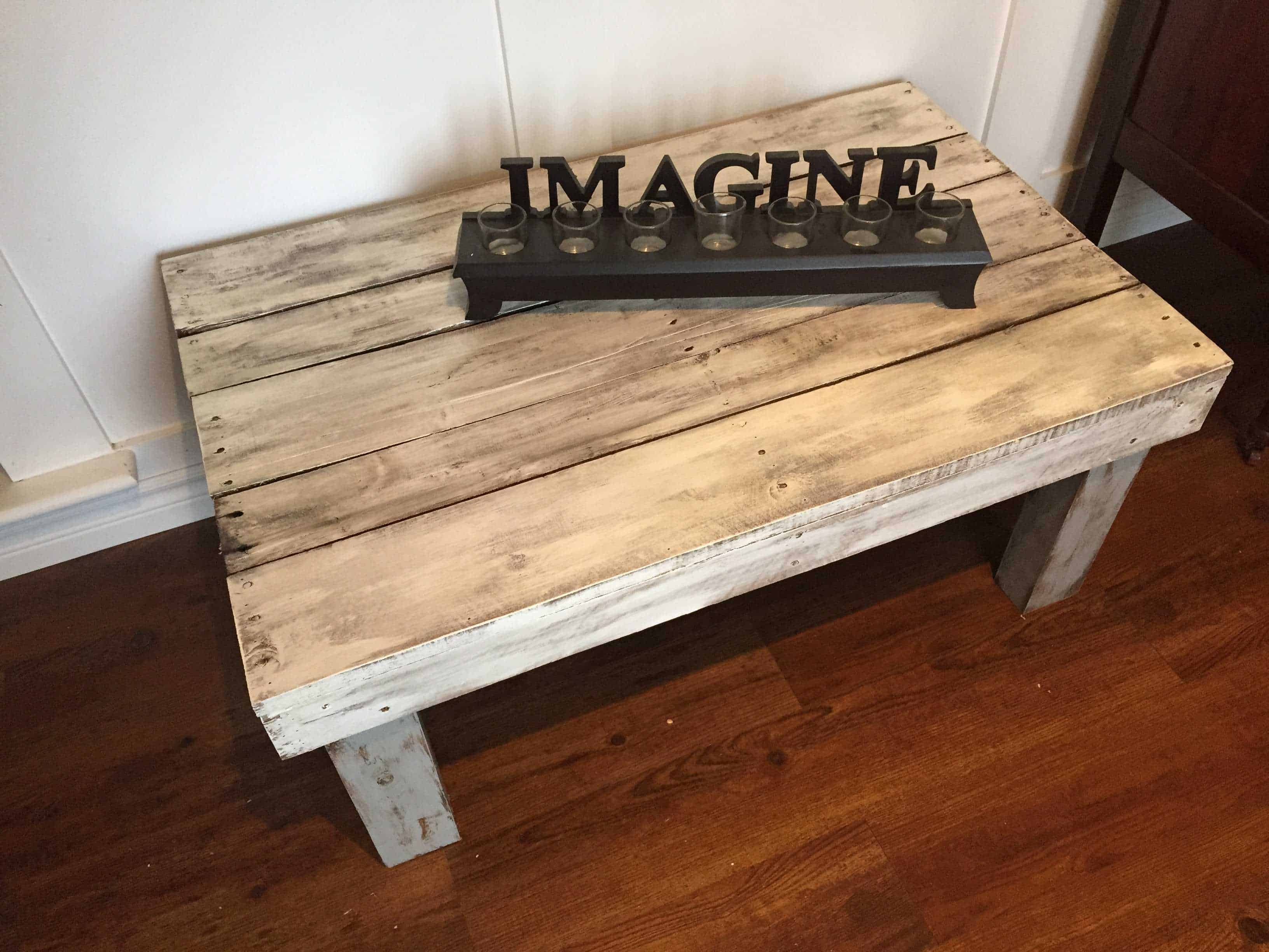 Rustic Painted Pallet Coffee Table • 1001 Pallets