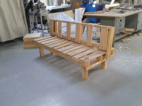Rustic Pallet Bench Pallet Benches, Pallet Chairs & Stools