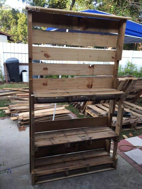 Shoe Rack Pallet Shelves & Pallet Coat Hangers