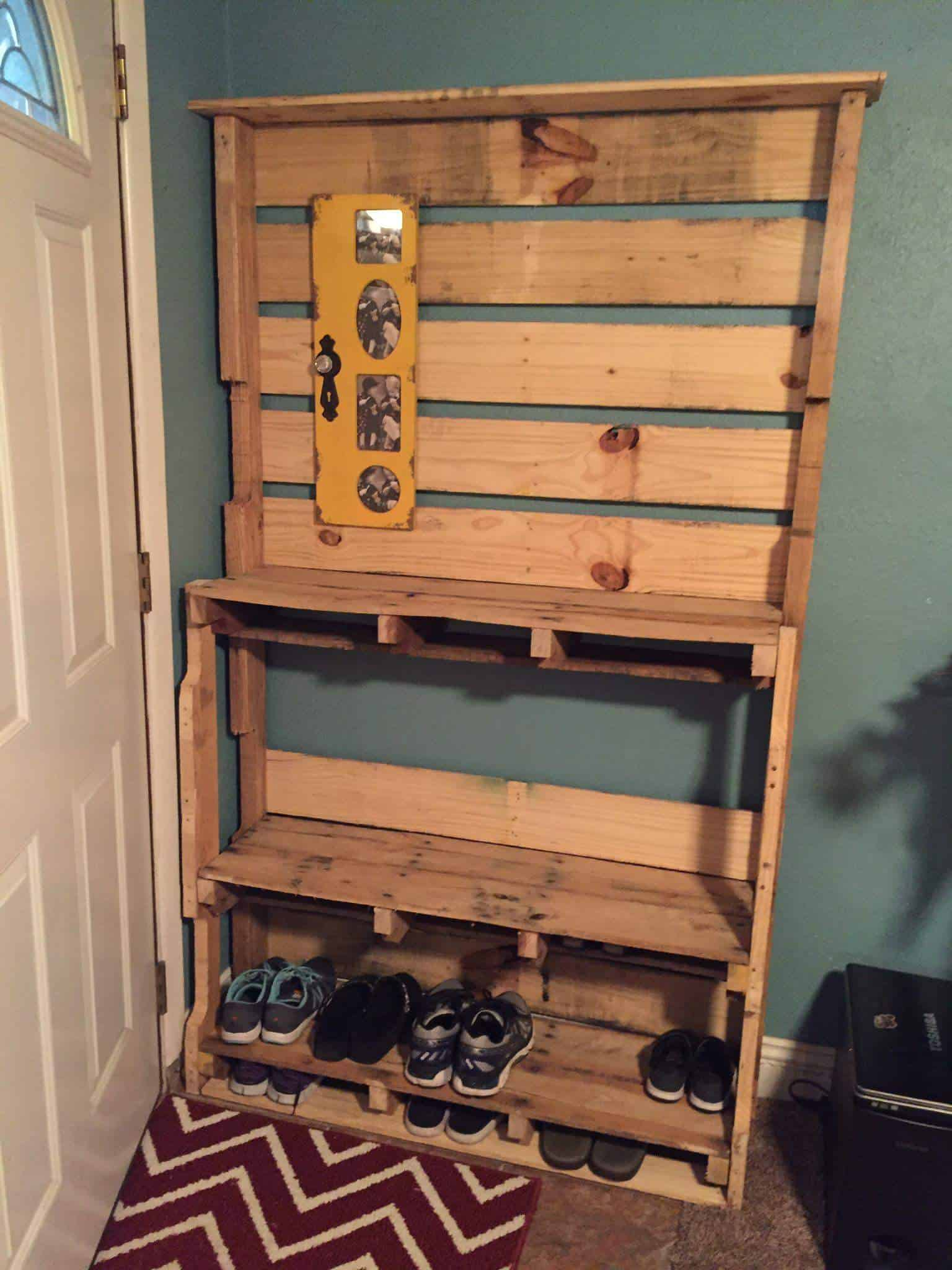 Shoe Rack • Pallet Ideas • 1001 Pallets