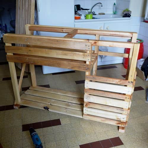 Tkt: The Kitchen Project (Kitchen Island & Table) DIY Pallet Bars