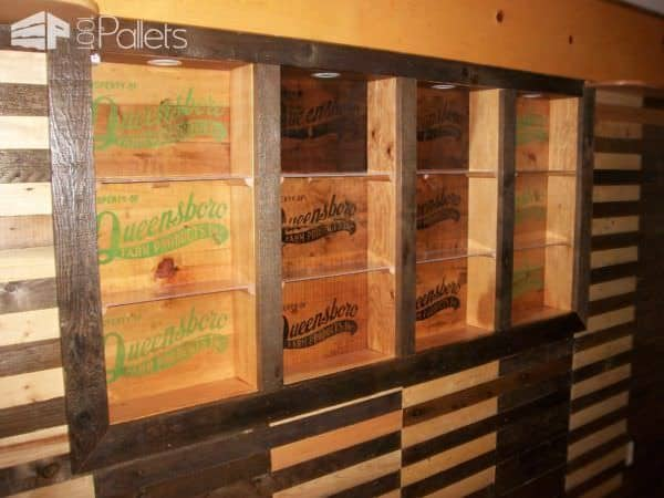 Walls & Sliding Barn Door Made from Pallets Pallet Walls & Pallet Doors