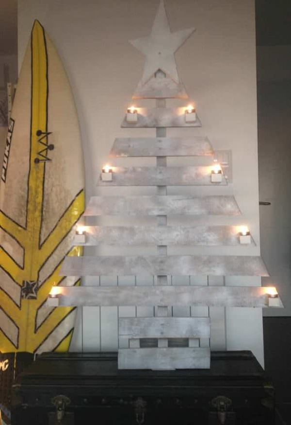 X-mas Pallet Tree Pallet Home Accessories