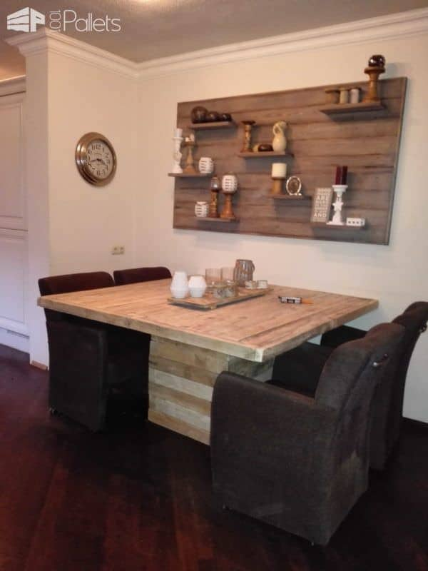 20$ Square Dinner Table from Pallets Pallet Desks & Pallet Tables