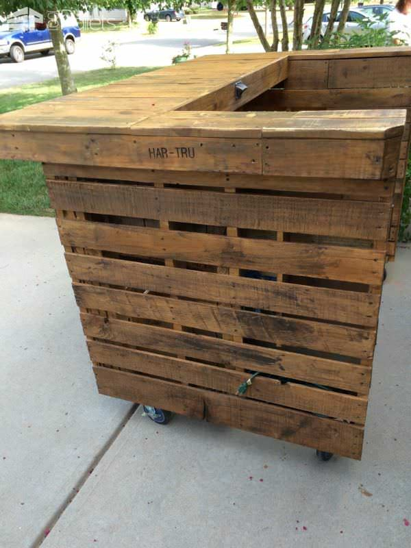 backyard pallet bar 1001 pallets